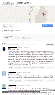 Hoeryong concentration camp on Google+