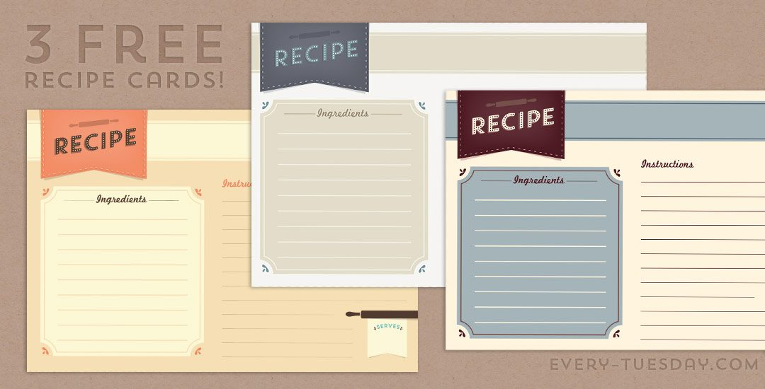 Freebie Recipe Card Printable