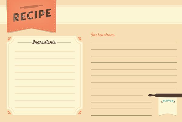 Freebie Recipe Card Printable - recipe card