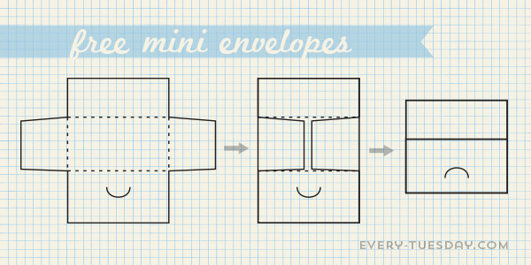 small envelope template - Alannoscrapleftbehind