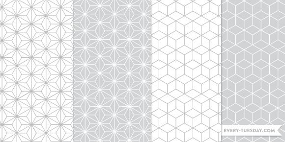 Freebie Geometric Photoshop Patterns