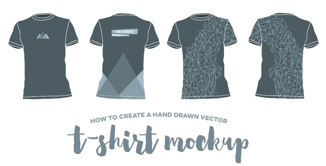 How to Create a Hand Drawn Vector T-Shirt Mockup