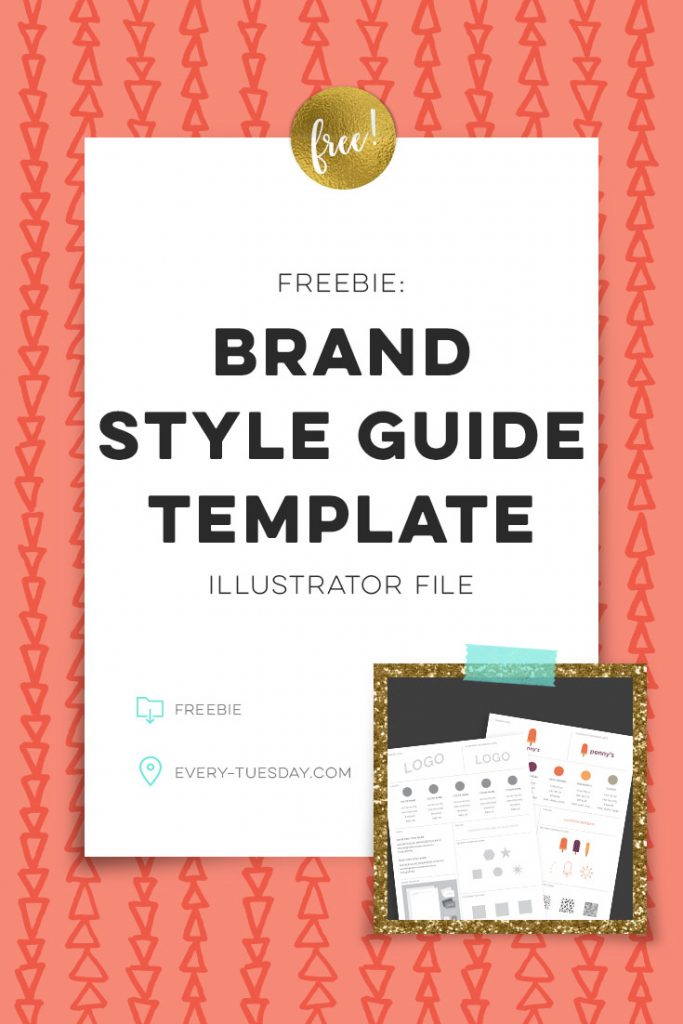 Freebie Brand Style Guide Template - Every-Tuesday
