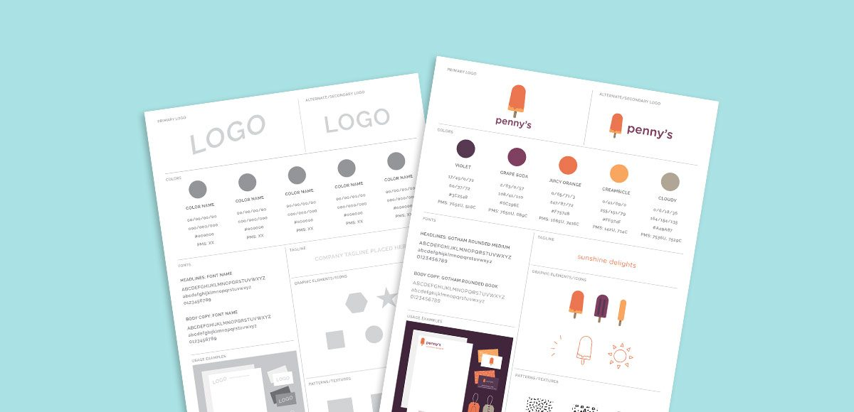 Freebie Brand Style Guide Template - Every-Tuesday - free user guide template