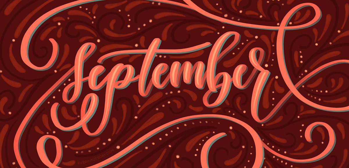 Glam Fall Background Wallpaper Freebie September 2016 Desktop Wallpapers Every Tuesday