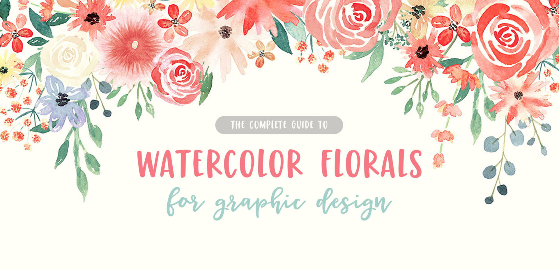 Cute Bordered Pastel Flower Wallpaper New Course Watercolor Florals For Graphic Design Every