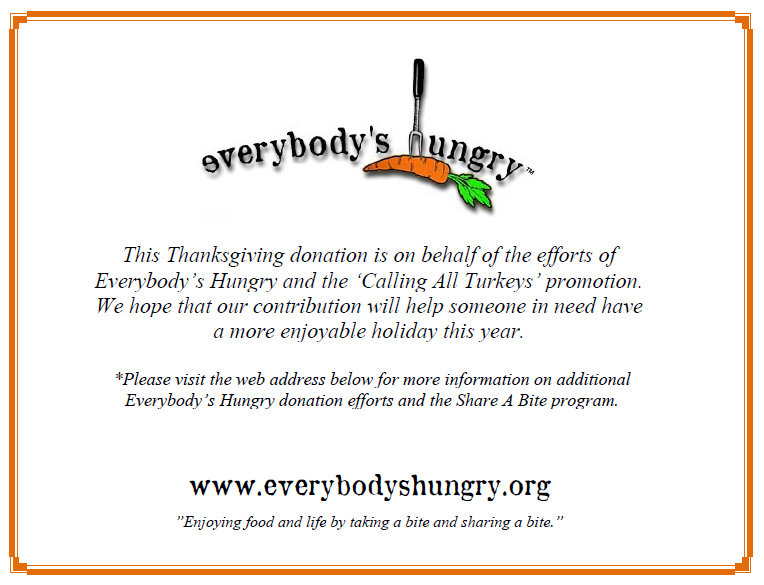 Calling All Turkeys u2013 Success! Everybodyu0027s Hungry - donation certificate template