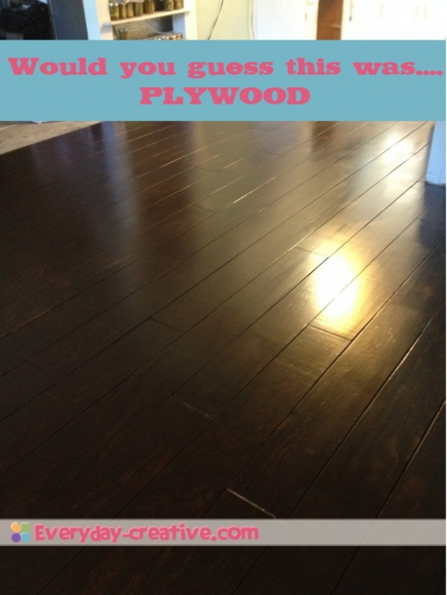 Plywood Plank Flooring Part 2- An Update Of The Finished Product