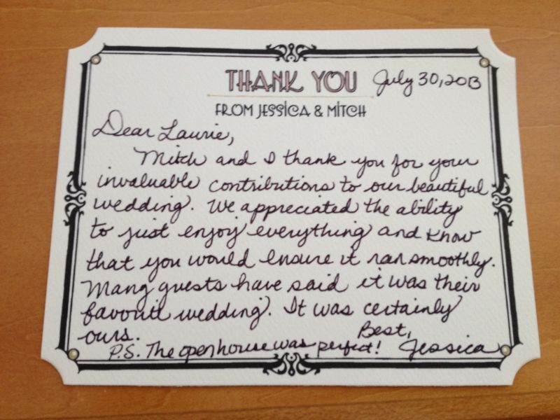 Personal Thank You Letters Everyday Details - NH Event Planner - personal thank you letter