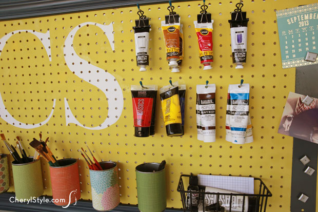 Paint Pegboard Organizer - Everyday Dishes & Diy