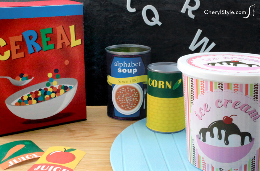 Printable play food labels - Everyday Dishes  DIY