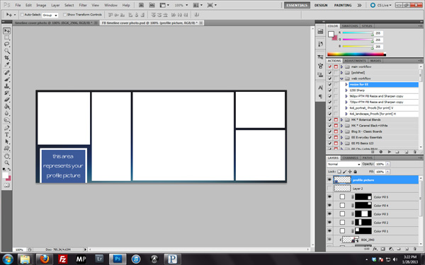 How to make a Facebook Timeline Cover Photo Everyday Elements - facebook collage template