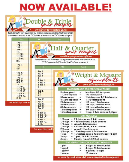 Measurement Conversion Chart Magnets are HERE! u2013 Food Storage News - cooking conversion chart