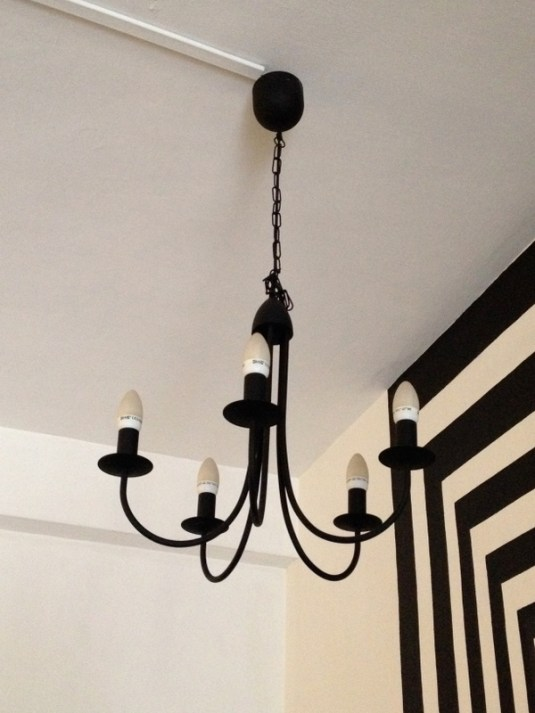 Ikea Black Chandelier 70 Sold Everydaygaragesale - Lustre Ikea Etoile Noir