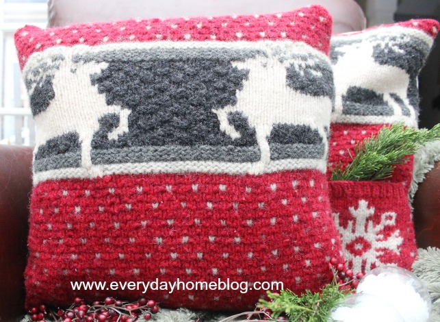 Christmas Sweater Pillows - The Everyday Home - decorative christmas pillows