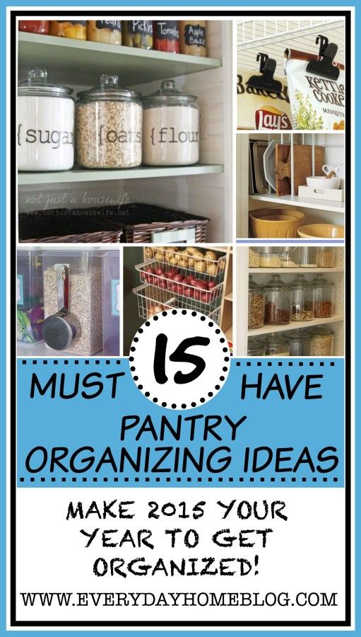 15 Pantry Organizing Ideas | The Everyday Home | www.everydayhomeblog.com