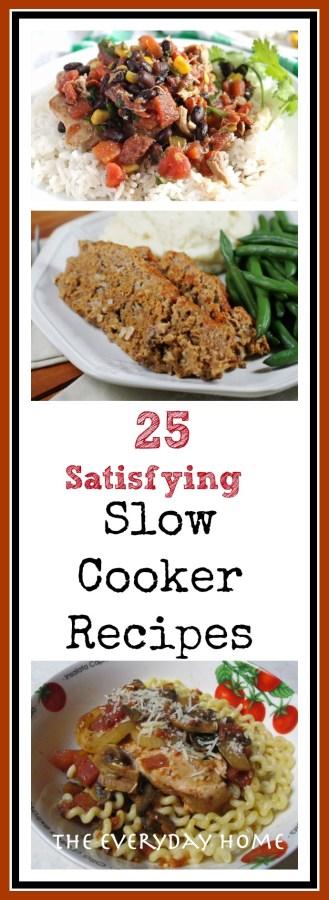25 Amazing Slow Cooker Recipes   The Everyday Home    www.everydayhomeblog.com