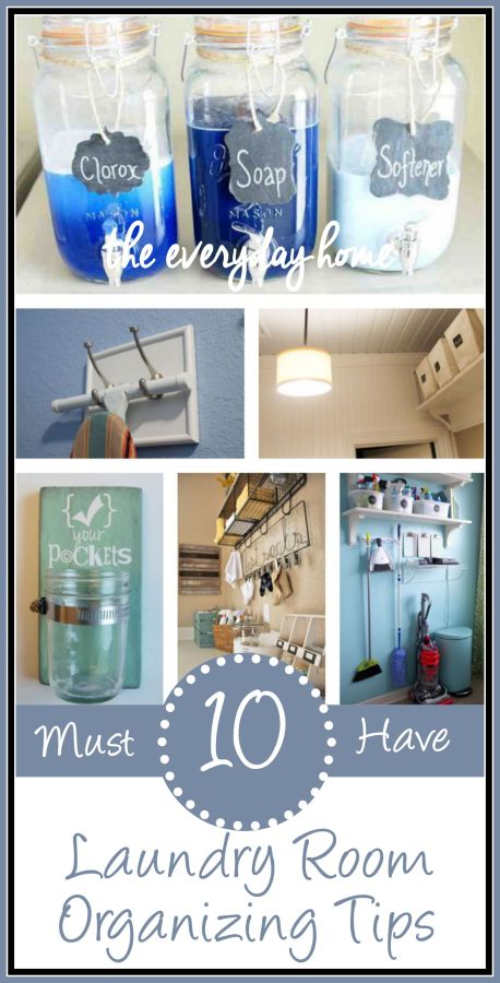 10 Must Have Laundry Room Organizing Tips | The Everyday Home | www.everydayhomeblog.com