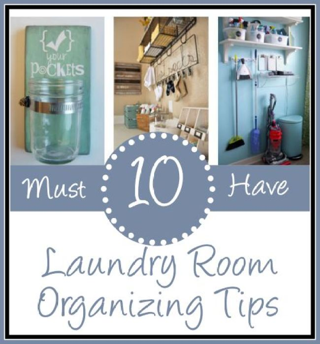 Laundry Room Organizing Tips | The Everyday Home  | www.everydayhomeblog.com