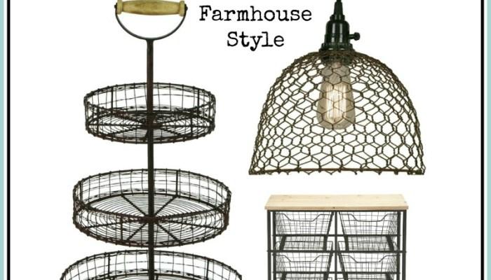 Farmhouse Style Wire Decor