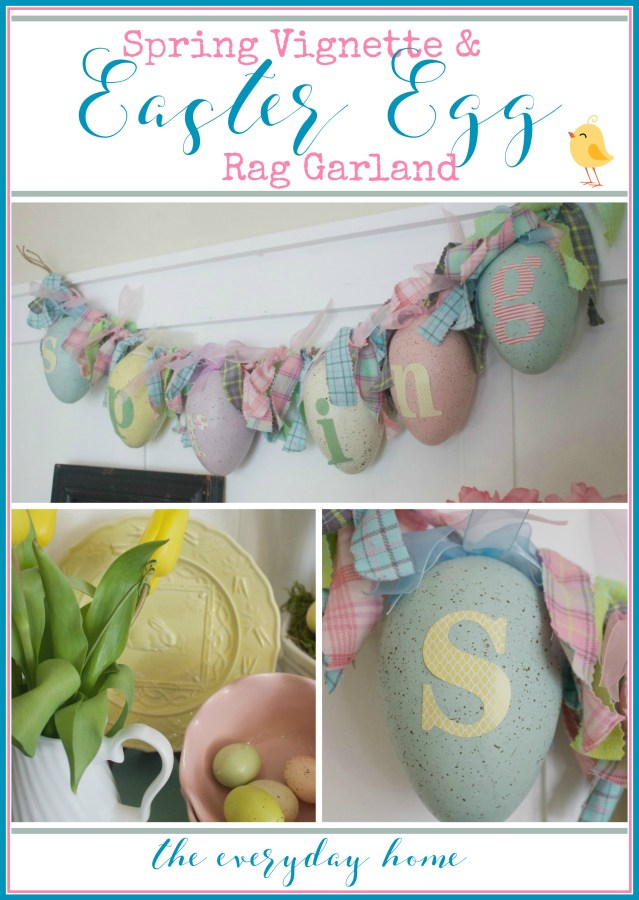 Spring Vignette & Easter Egg Garland | The Everyday Home