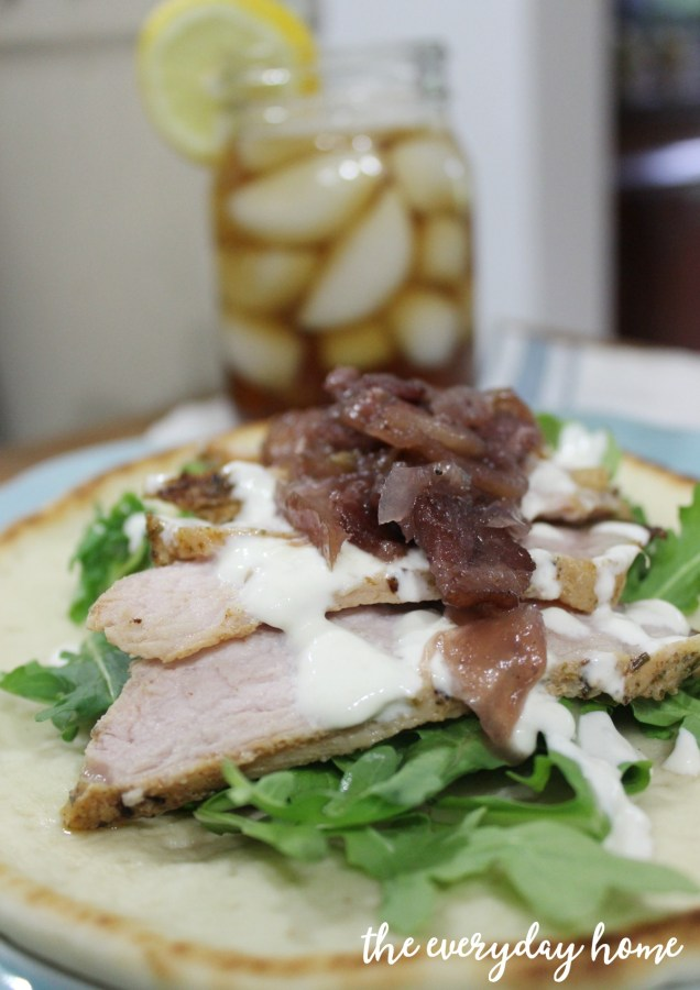 Roasted-Pork-Flatbread-Sandwich-Apple-Bacon-Chutney | The Everyday Home | www.everydayhomeblog.com