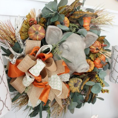 Updating a Fall Wreath Using Floral Picks