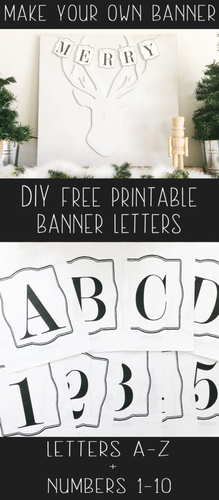 Free Printable Letters + Numbers Perfect for any occasion!
