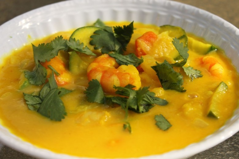 Paleo Green Curry, Pumpkin, and Coriander Soup