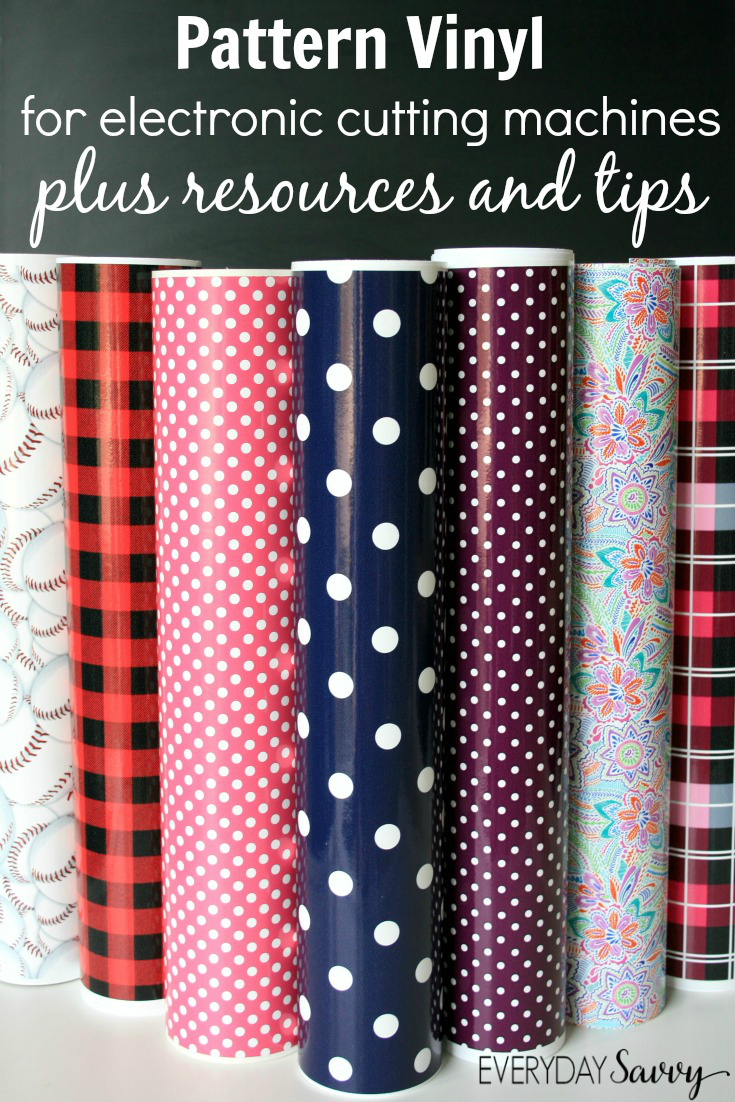 Pattern vinyl for the silhouette cricut and more where to find the best printed craft