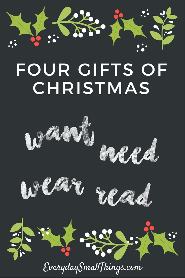 How Four Gifts Could Save Your Christmas Spirit | Everyday Small ...