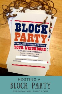 Block Party :: EverydaySmallThings.com