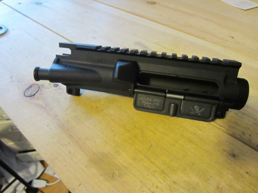 AR15 ejection port cover - installed