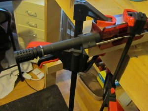 AR15 muzzle device installation