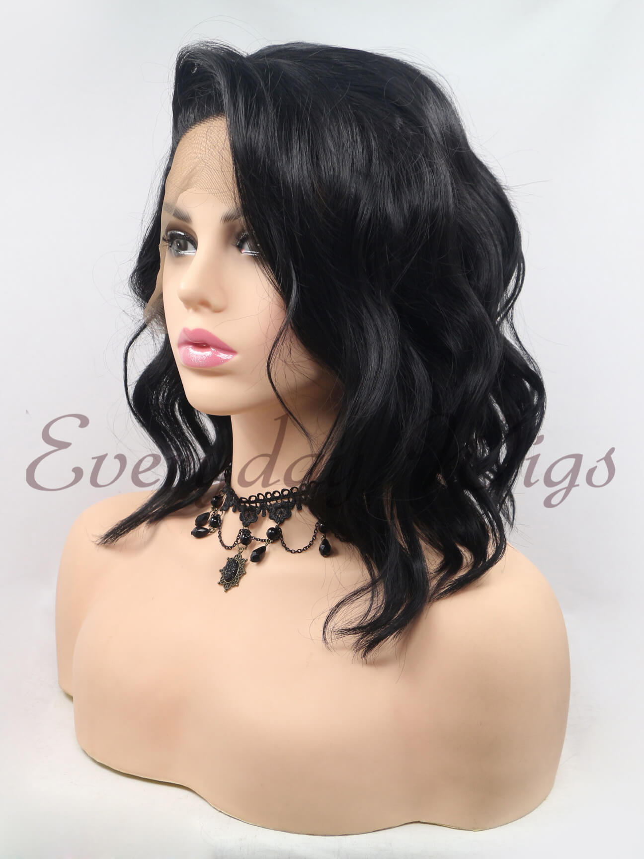 Orange Wig Bob 14 Black Bob Wig Curly Synthetic Wig Edw271