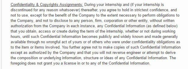 Internships and Non-Disclosure Agreements - EveryNDA - confidentiality statement
