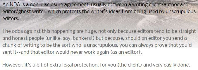 Confidentiality Agreement for Writers  Authors - EveryNDA - sample client confidentiality agreements