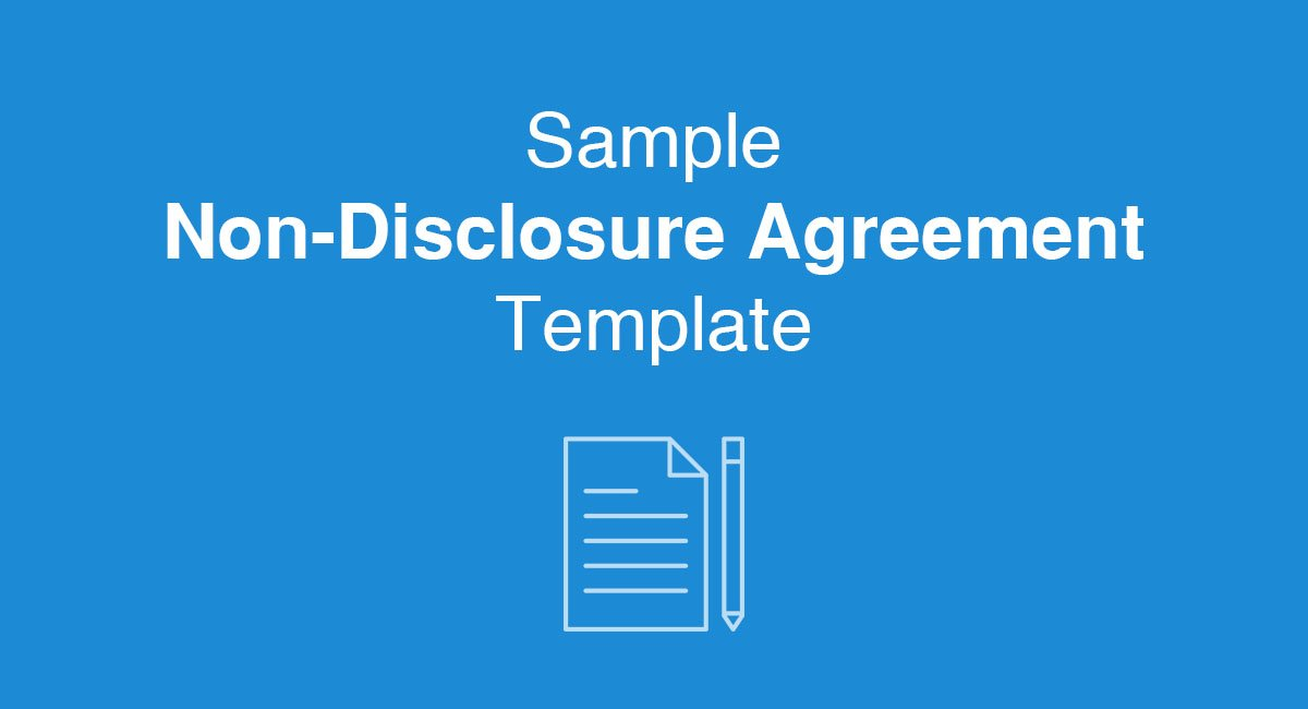 Sample Non-Disclosure Agreement Template - EveryNDA