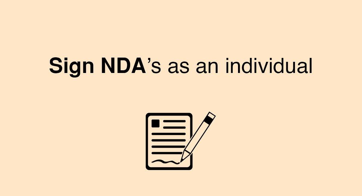 Sign NDA\u0027s as an Individual - EveryNDA
