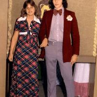 Ellen DeGeneres and her prom date ca. 1976