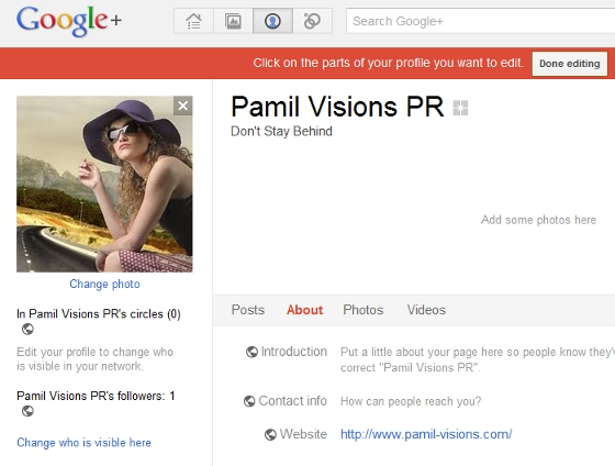 Pamil Visions PR on Google Plus