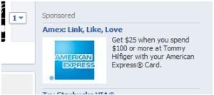 Amex facebook campaign.