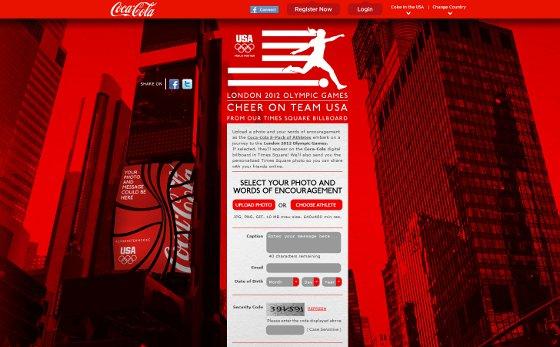 Coke Cheer page