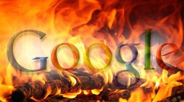 Google burns
