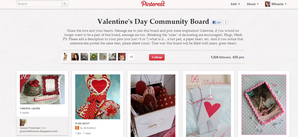 Valentine's Day Community Board