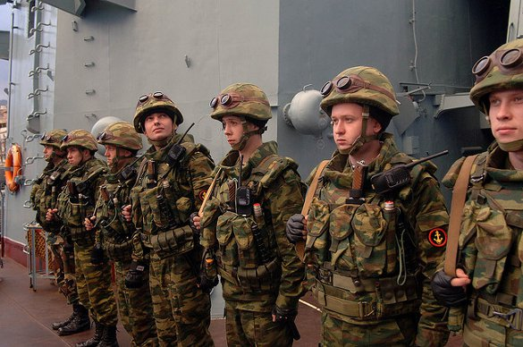 Russian Special Forces aboard the Moskva