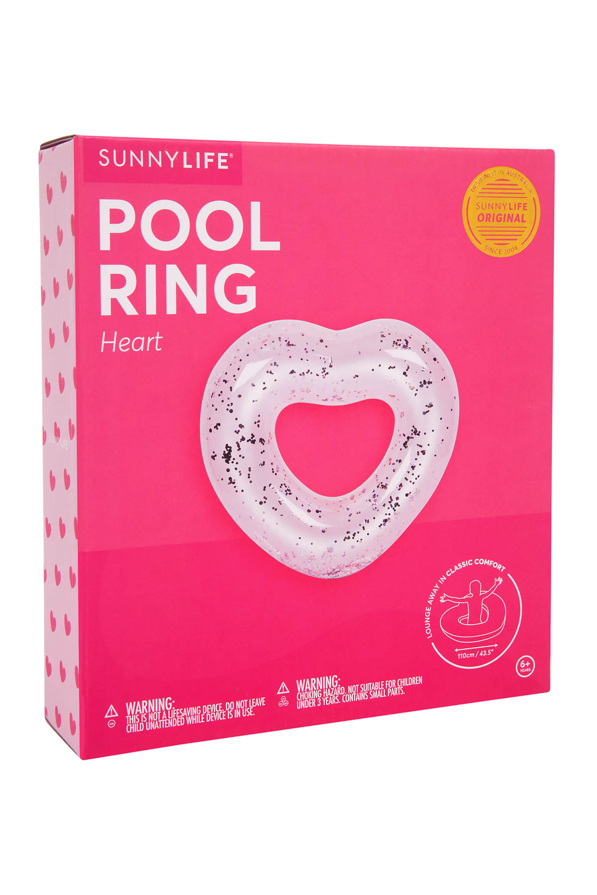 Sunnylife S Pool Accessories Heart Glitter Ring Pool Float