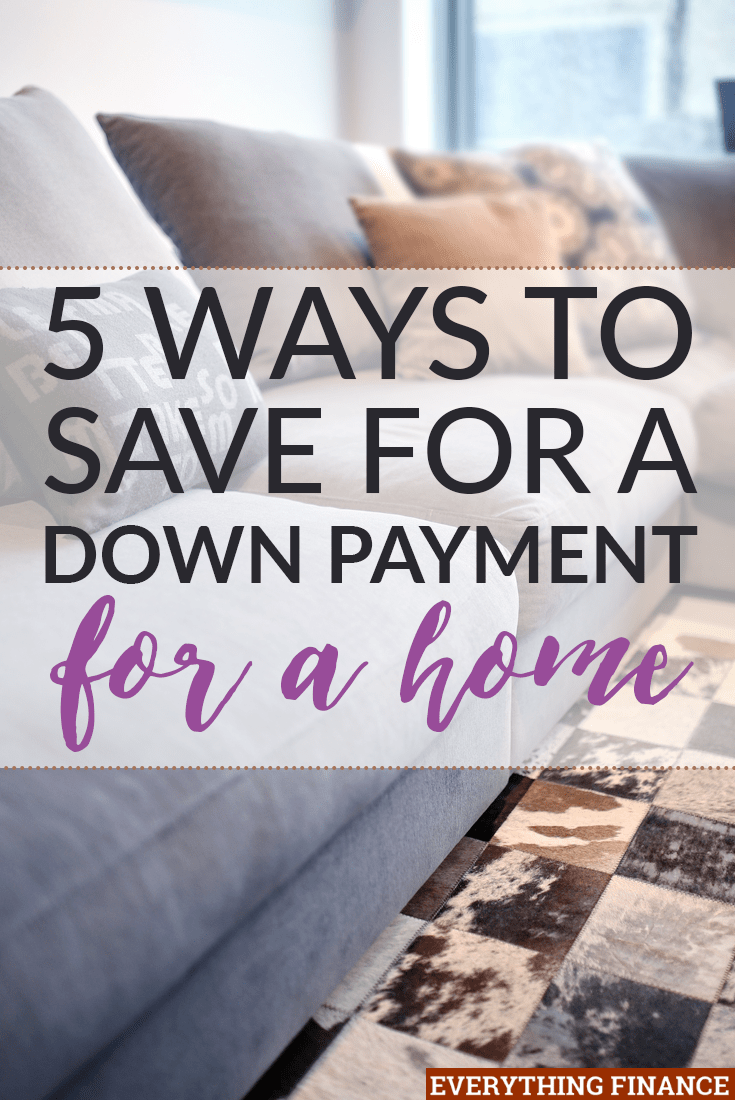 5 ways to save a down payment for your first home for Ways to save for a house