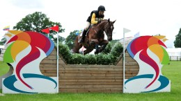 Nick Gauntlett and Cairnside Sir Alex in the Express Evening Competition at Bolesworth International