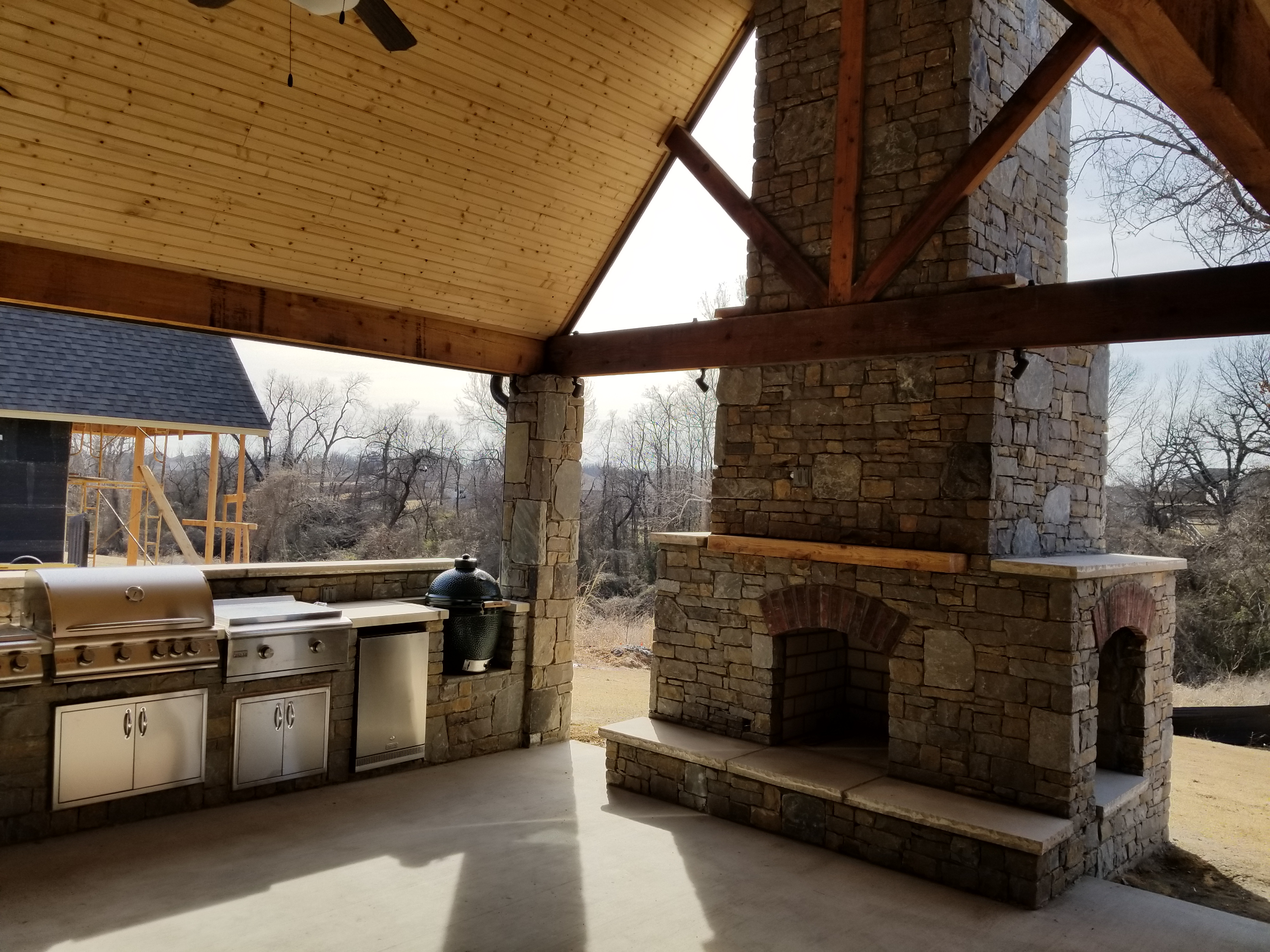 Outdoor Fireplace Materials Features And Benefits Of The Major Types Of Outdoor Living